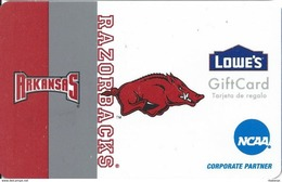 Lowes NCAA Gift Card - Arkansas Razorbacks - Gift Cards