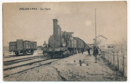 CPA - PELISSANNE (Bouches Du Rhône) - La Gare (Locomotive Plan Moyen) - Pelissanne