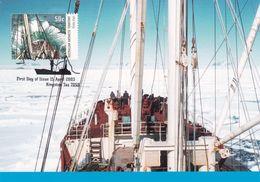 Australian Antarctic Territory 2003 Antarctic Ships, Kista Dan Approaching Mawson, Maximum Card - Maximum Cards
