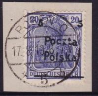 POLAND 1919 Poznan Fi 68 B3 Used - ....-1919 Übergangsregierung