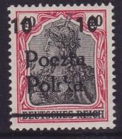 POLAND 1919 Poznan Fi 70 B7 Mint Never Hinged Signed Perzinski - Unused Stamps