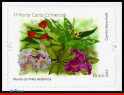 Ref. BR-V2017-12 BRAZIL 2017 FLOWERS, PLANTS, FLOWERS OF THE ATLANTIC, FOREST, AROMATIC STAMP, MNH 1V - Unused Stamps