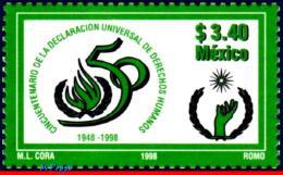 Ref. MX-2077 MEXICO 1998 HEALTH, DECLARATION OF HUMAN, RIGHTS, MI# 2700, MNH 1V Sc# 2077 - Mexico