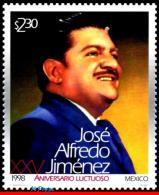 Ref. MX-2103 MEXICO 1998 FAMOUS PEOPLE, JOSE ALFREDO JIMENEZ,, COMPOSER, MI# 2751, MNH 1V Sc# 2103 - Mexiko