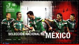 Ref. MX-2875 MEXICO 2014 FOOTBALL-SOCCER, WORLD CUP CHAMPIONSHIP, BRAZIL, NATIONAL TEAM, SPORT, MNH 1V Sc# 2875 - World Cup
