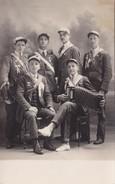 Groupe De 6 Conscrits - Classe 28 - Lieu Non Identifié, à Situer - Région Autun (71) - Carte Photo - Regimente