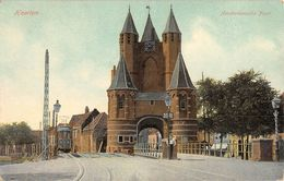 "15 ""HAARLEM - AMSTERDAMSCHE POORT""  ANIMATA, TRAMWAY. CART. ORIG. SPED. 1909 - Haarlem"