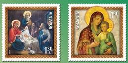 Romania 2017 / Christmas / Set 2 Stamps - Unused Stamps