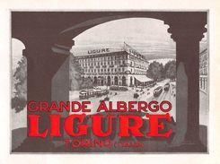 "18 ""GRANDE ALBERGO LIGURE - TORINO"" ETICH. ORIG. - Etiquettes D'hotels"