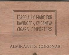 BOITE A CIGARES BOIS VIDE -ALMIRANTES CORONAS ESPECIALLY MADE FOR DAVIDOFF - JMPORTERS - Contenitori Di Tabacco (vuoti)