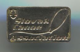 Rowing, Rudern, Canu, Kayak - FEDERATION SLOVAKIA, Vintage Pin, Badge, Abzeichen - Rowing