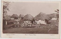 CPA CURACAO DUTCH D.W.I. Native Huts Real Photo - Curaçao