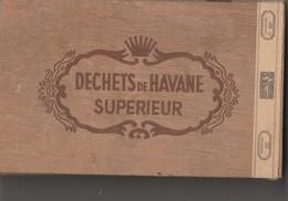 BOITE A CIGARES BOIS VIDE - DECHETS DE HAVANE SUPERIEUR 100GR -COMTE TINCHANT CIE ALGER - Contenitori Di Tabacco (vuoti)