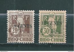 France Colonie Taxes D'Indochine  De 1919  N°23 Et 24 Oblitérés - Postage Due