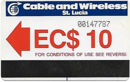@+ Sainte-Lucie - Cable & Wireless EC$ 10 (1985) - Ref : LC-C&W-AUT-0001A - Santa Lucía