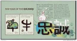 Christmas Island 2009 Year Of The Ox Sheet Mint Never Hinged ** - Christmas Island