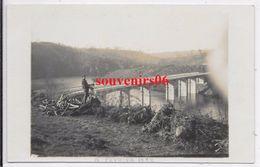 50 - Environs Ducey -carte Photo -vallée Du Lait  Pont , Débardeur Avec Son Chien ,6 Fevrier 1932 - Ttb - Autres Communes