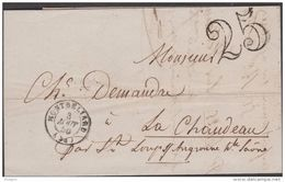 FRANCE    LETTRE ANCIENNE  MONTBELIARD  1855  Réf  E617 - Postmark Collection (Covers)