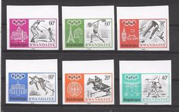 Rwanda Série Complète Non Dentelé Imperf JO 68 ** - Sommer 1968: Mexico
