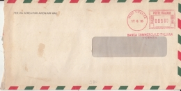 Italy  1985  Bank    Meter Frank Cover    #   03849     D - Affrancature Meccaniche Rosse (EMA)