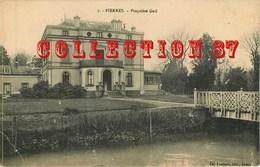 ARCHITECTURE < VILLA CHATEAU GAIL à PIERRES - CARTE ADRESSEE à C. TIXIER à La SOUTERRAINE (23 Creuse) - Schlösser