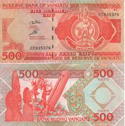 VANUATU   500 Vatu   ( De La Rue 2007)  PNL  New Signature B     UNC - Vanuatu