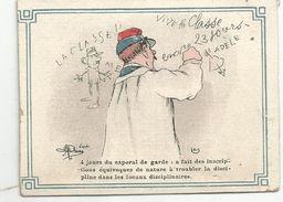 Chromo, Signé , 4 Jours Du Caporal De Garde:... , Militaria , Humour, D'aprés Illustrateur A. Guillaume - Chromos