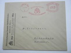 1930,  Berlin   , Glasklarer Firmen - Freistempel  Auf   Brief - Deutschland