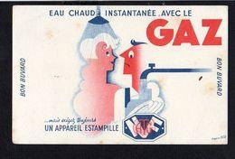 Buvard Publicitaire / Eau Chaude Instantanée Avec Le GAZ D'après BOB Illustrateur - Buvards, Protège-cahiers Illustrés