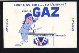 Buvard Publicitaire / Bonne Cuisine ....avec Le GAZ D'après FIX Masseau Illustrateur - Buvards, Protège-cahiers Illustrés
