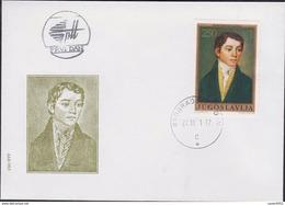 YOUGOSLAVIE  FDC 1971 TABLEAU N° YT  1328 - FDC