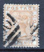 Gold Coast Queen Victoria 6d Orange Stamp From 1876. - Gold Coast (...-1957)