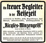 Original-Werbung/ Anzeige 1911 - RICQLÈS MINZENGEIST - Ca. 90 X 80 Mm - Werbung