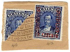 (I.B) Guatemala Postal : 2c Bisect On Piece - Guatemala