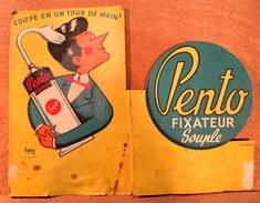 CARTON PENTO FIXATEUR SOUPLE COIFFE EN UN TOUR DE MAIN ( Signé HERVE ) IMP THORBEL JOUET SUR L'AUBOIS CHER - Beauty Products