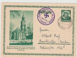 III-GA418 / Ganzsache Mit Jubiläumsstempel Liedholshein, Badeb  1933 (Heimatbeleg)  Garnisonskirche Potsdam - Deutschland
