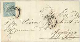 BUSTA DA TORINO A MONTANARO AFFRANCATA CON C.15 SERIE DE LA RUE DEL 29/09/1864 - CATALOGO SASSONE L18 - Storia Postale