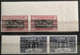 V33 Italy CENQVANTENARIO MANZONIANO Stamps - Overprinted ZARA  - PAIRS - Modern Reproduction Of Scarce Stamps - Italy