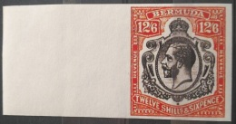 V33 British Colony BERMUDA - KGV 12/6 Shillings Rare Stamp - IMPERF - Modern Reproduction - Great Britain (former Colonies & Protectorates)