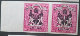 V33 British Colony BRITISH CENTRAL AFRICA - 2Sh6p Rare Stamp - IMPERF Pair - Modern Reproduction - Great Britain (former Colonies & Protectorates)
