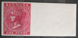 V33 British Colony BERMUDA - 1 PENNY - IMPERF - Modern Reproduction - Great Britain (former Colonies & Protectorates)