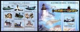 GUINEA BISSAU 2005 - WW2: Submarines - YT 2032-6 + BF282 - Militaria