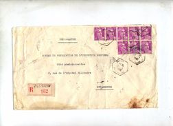 Lettre Recommandee Zillisheim Sur Gandon - Manual Postmarks