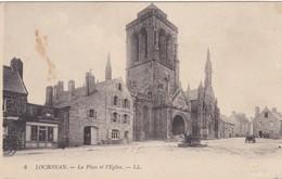 Locronan La Place Et L'église - Autres Communes