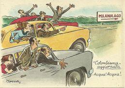 """Milano, Fiera Internazionale, Mostra Settore """"Nautica"""" """"Milanolago - Colombiana"""" Illustrazioni, Illustratore Manca - Other Illustrators"""