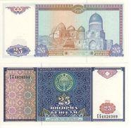 UZBEKISTAN    25 Sum   P77    1994  UNC - Uzbekistán