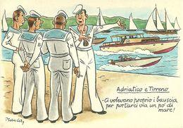 """Milano, Fiera Internazionale, Mostra Settore """"Nautica"""" """"Milanolago - Adriatico E Tirreno"""", Illustratore Manca - Other Illustrators"""