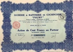 VP11.521 - Action - PARIS X SÏGON 1926 - Sucrerie & Raffinerie De Cochinchine ¨ PHUMY ¨ - Agriculture