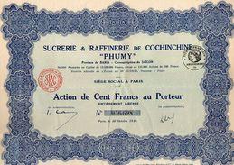 VP11.522 - Action - PARIS X SÏGON 1926 - Sucrerie & Raffinerie De Cochinchine ¨ PHUMY ¨ - Agriculture