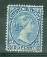 Falkland Is: 1891/1902   QV   SG30b    2½d   Pale Ultramarine   MH - Falkland Islands